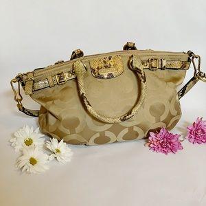 Coach Madison Signature Satchel Handbag